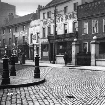 Bow Road in 1909, from the Living in Bow image archive project on Facebook
