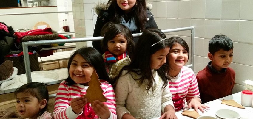 Cookie cutting workshop at GKelly Pie and Mash shop