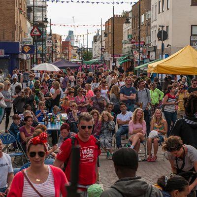 Roman Road Festival 2014 crowds