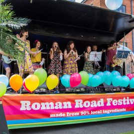 Roman Road Festival 2016 Airstream stage