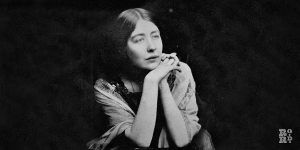 Black and white photograph of Sylvia Pankhurst