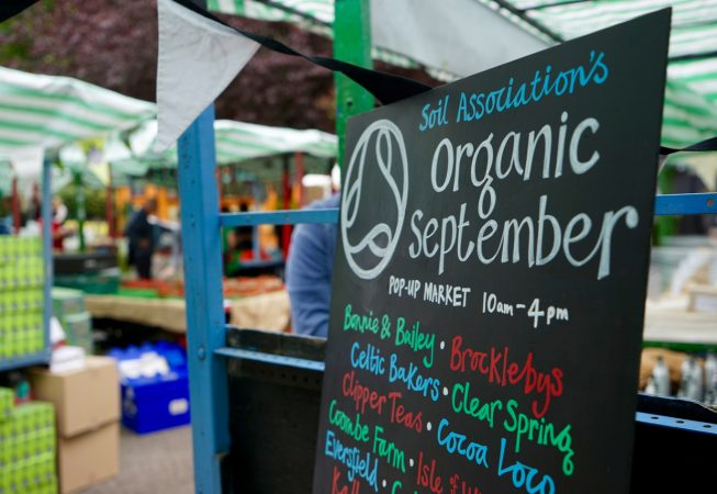 Soil Association's Organic September event was held at Roman Road Yard Market