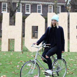 Janna Brom volunteering for Roman Road Trust as digital mentor
