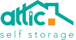 Attic self storage logo