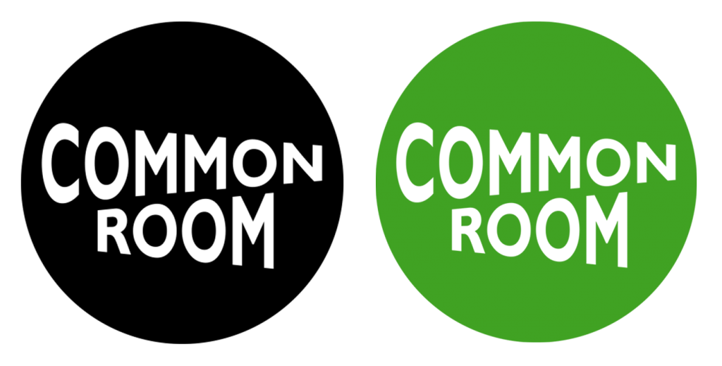 Common Room logo designed by Jess Currie, University East London