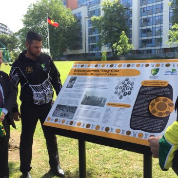 Meath Gardens commemorates legendary Indigenous Australian Cricketer