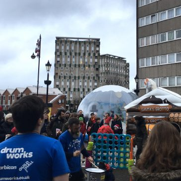 Morpeth students bring Christmas cheer to Globe Town Market Square