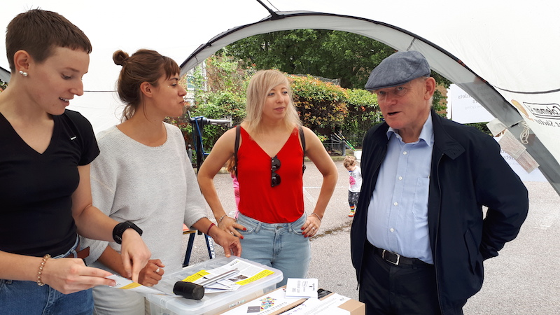 Mayor of Tower Hamlets, John Biggs, visits Roman Road Park Festival