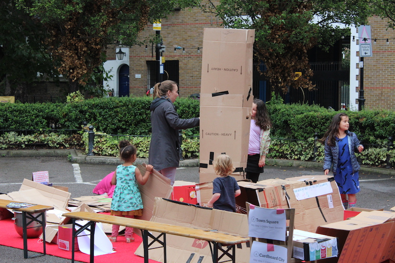Cardboard City with Better Streets for Tower Hamlets