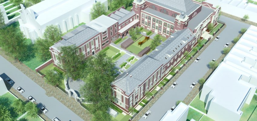 Central Foundation School housing development in Bow, East London