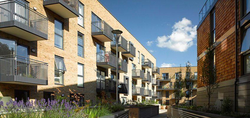 Gunmakers Wharf housing development in Bow, East London