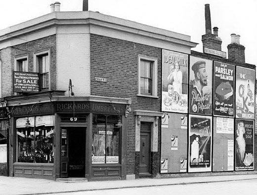 69 Roman Road on corner of Vivian, now Zealand Road coffee shop, from the Living in Bow image archive project on Facebook