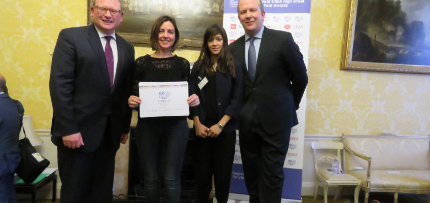 From left: High Street Minister Marcus Jones, Tabitha Stapely from Roman Road Trust, Naznin Chowdhury from LBTH, and Simon Roberts, Executive Vice President of Walgreens Boots Alliance and President of Boots