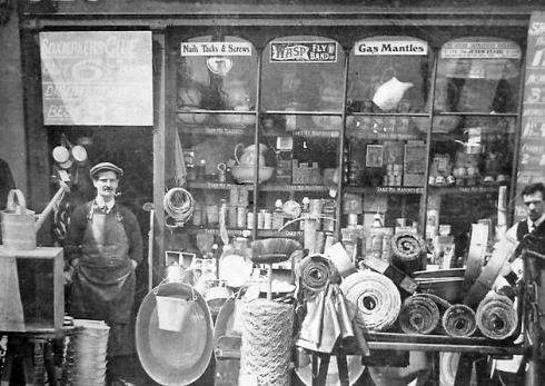 Historian Jane Cox's grandfather's shop on Roman Road, from the Living in Bow image archive project on Facebook