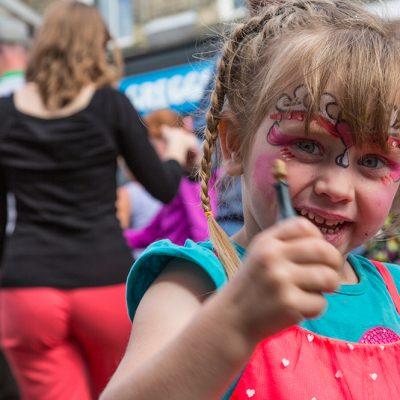 Roman Road Festival 2014 face painting