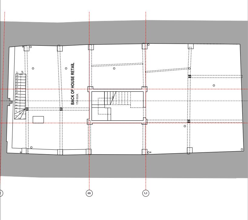 538-540 Roman Road PA/16/03072 basement floor existing
