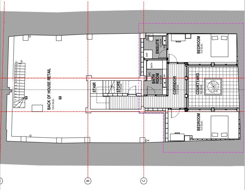 Proposed basement floor plan
