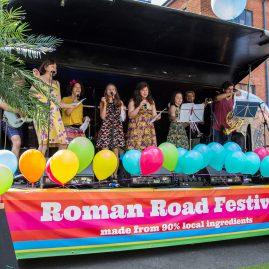 Roman Road Festival 2016 Airstream stage