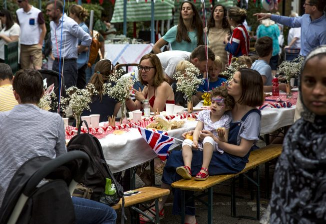 The Queen's Birthday Tea was a traditional East End street party with lot of cake and tea