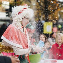 Roman Road Christmas Fair having fun